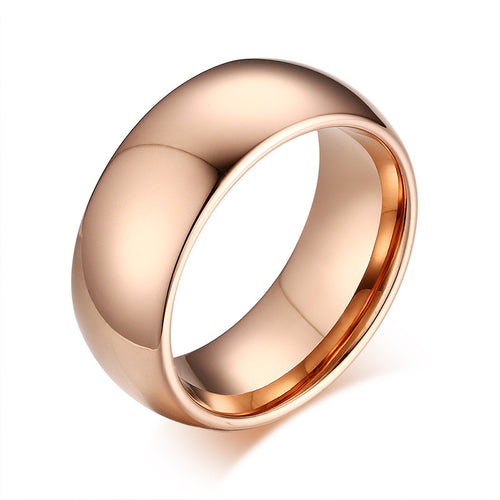 Polished Rose Gold Ring