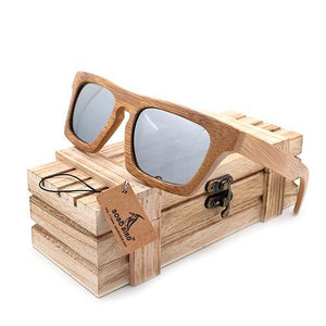 Quad Smoky Wayfarer Bamboo Wood Sunglasses [2 Variants]