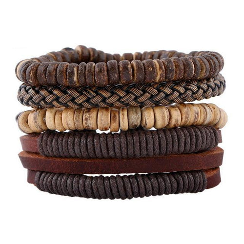 Vintage Leather Boho Stack Bracelet [8 Variations]