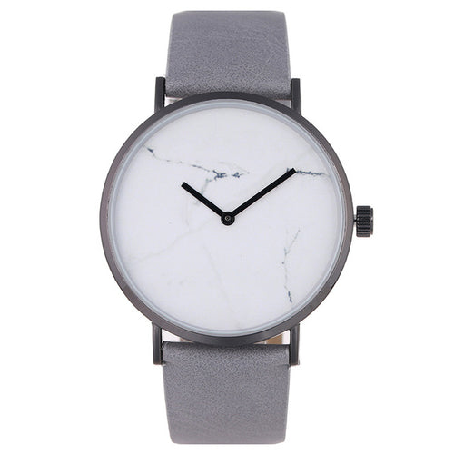 Crema de Marfil Leather Marble Watch