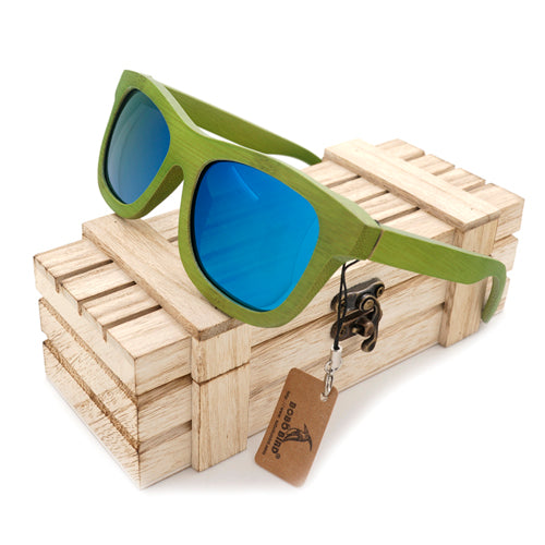 Jade A La Mode Bamboo Wood Sunglasses [4 Variants]