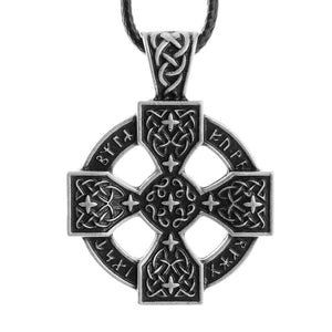 Futhark Sunwheel Cross Necklace