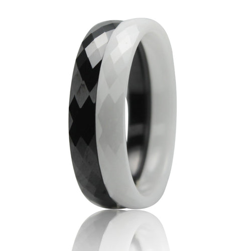 Classic Ceramic Carbon Fiber Stack Ring