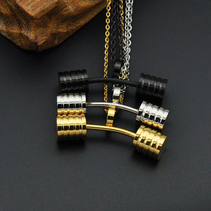 Fitness Dumbbell Charm Necklaces [3 Variants]