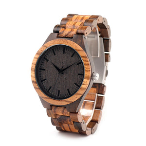 Zebrawood Bamboo Watch