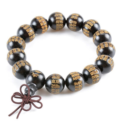 Great Compassion Mantra Ebony Buddhist Bracelet