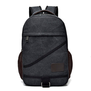 Canvas Travel Laptop School Backpack [4 Variants]