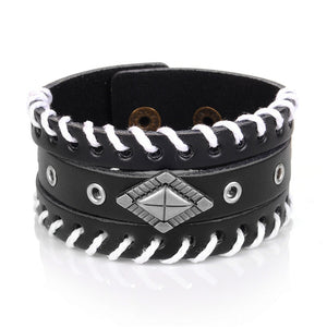 Punk Studded Genuine Leather Cuff Bracelet [9 Variants]