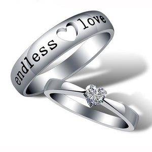 Endless Love Silver Couple Ring
