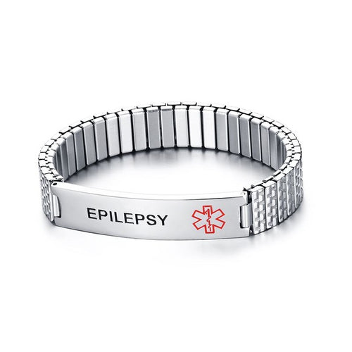 Stainless Steel Stretchable Silver Medical Alert Bracelet [7 Variants]