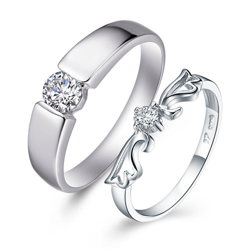 Angel Wing Romantic Couple Ring
