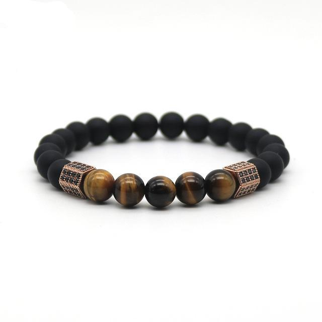 Geometric Hexagon Tiger Eye Bracelet