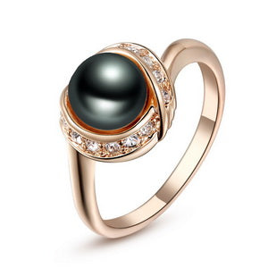 Vintage Rose Gold Black Pearl Ring [3 Variants]
