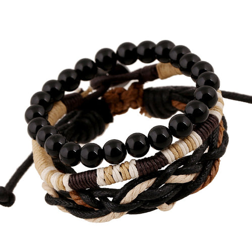 Stackable Braided Rope Bohemian Bracelet