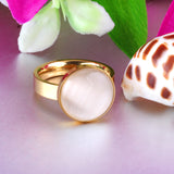 Luxury White Opal Wedding Ring [2 Variants]