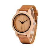 Cinnamon Ebony Adjustable Bamboo Wristwatch