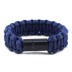 Paracord Universal USB Connector Charger Bracelet [iOS & Android]