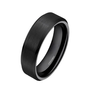 Black Brushed Ceramic Ring