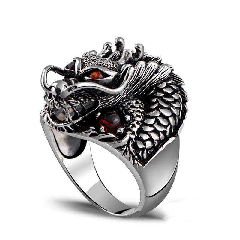 Hydra Splash Dragon Silver Ring