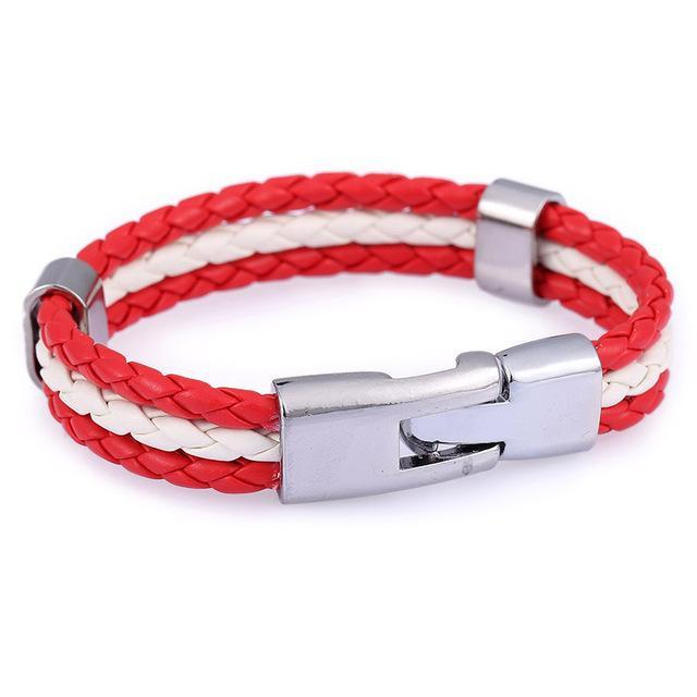 Support Austria Leather Unisex Bracelet
