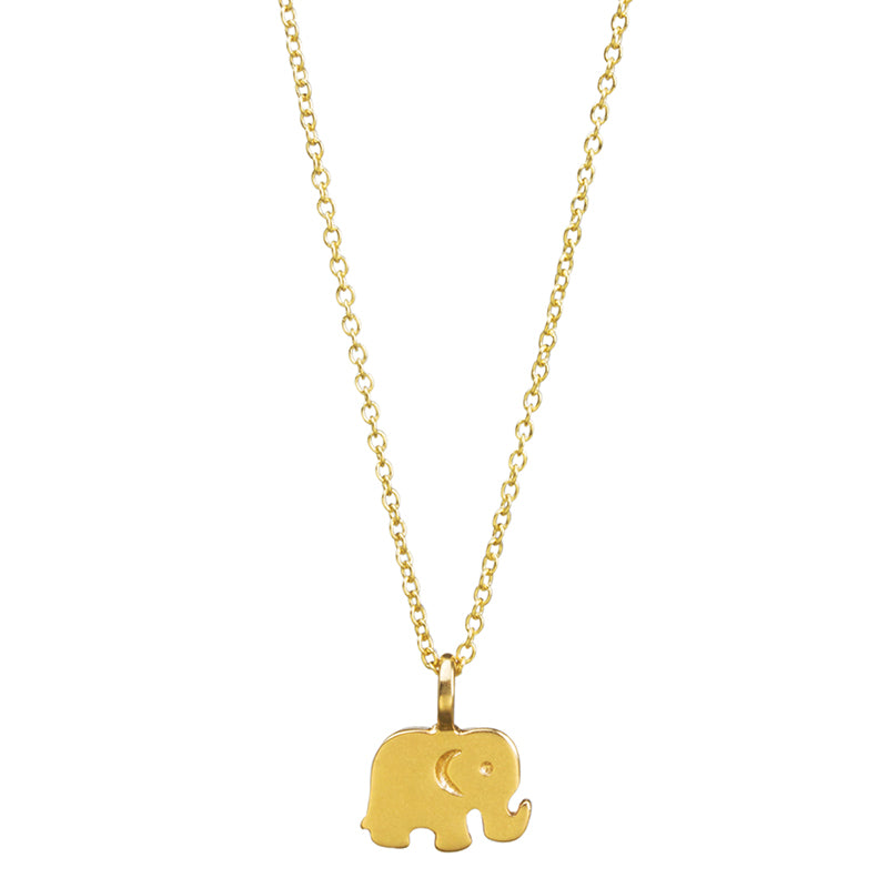 Lucky Elephant Pendant Necklace [Silver or Gold]