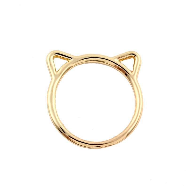 Cute Cat Ears Ring [Silver or Gold]