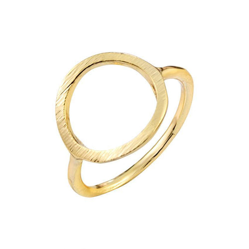 Open Circle Geometric Ring [3 colors]
