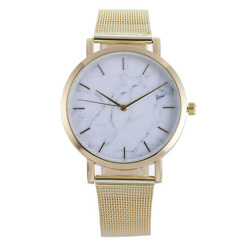 Golden Sahara Shock Resistant Marble Watch