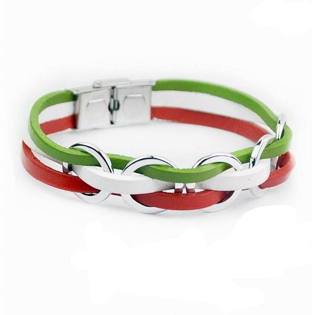 Support Italy Genuine Leather Bracelet