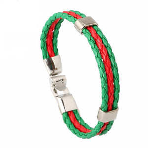 Support Portugal Unisex Leather Bracelet