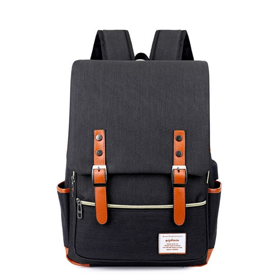 USB Charging Unisex Oxford Casual Laptop School Backpack [4 Variants]