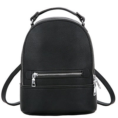 FAUX LEATHER TRAVEL MINI BACKPACK [4 VARIANTS]