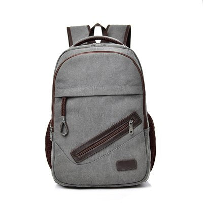 LARGE MENS CANVAS TRAVEL LAPTOP SCHOOL BACKPACK [3 VARIANTS]