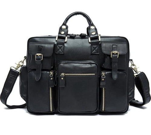 GENUINE LEATHER TRAVEL HIGH-CAPACITY BAG [3 VARIANTS]