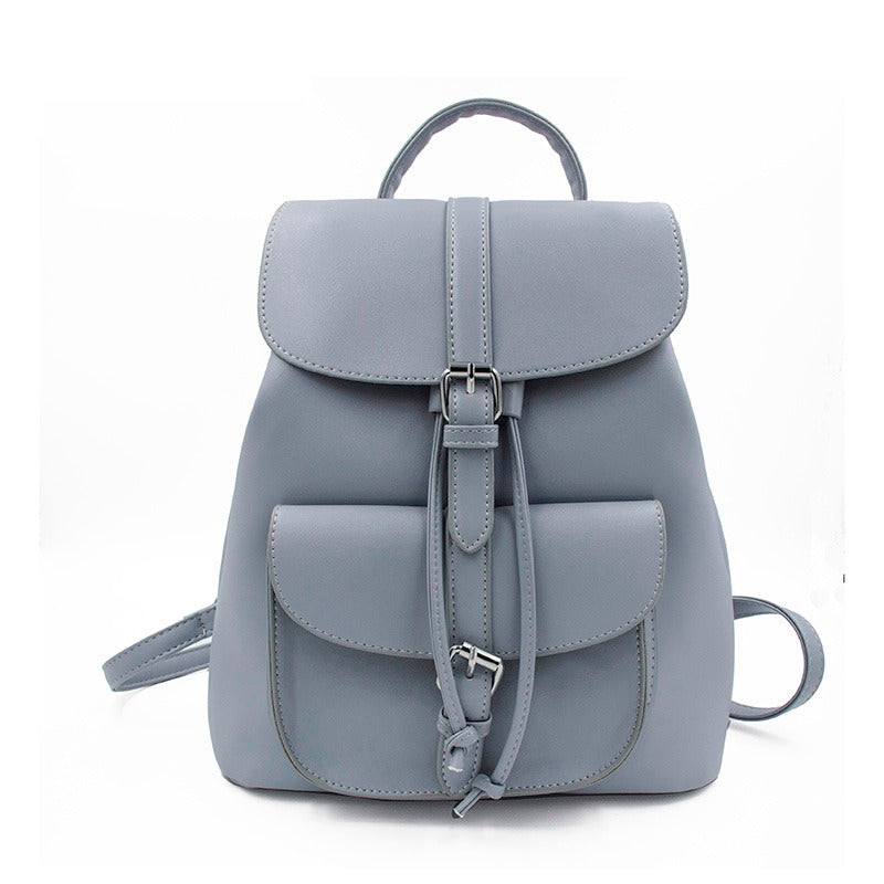 CLASSIC DRAWSTRING FAUX LEATHER MINI BACKPACK [4 VARIANTS]