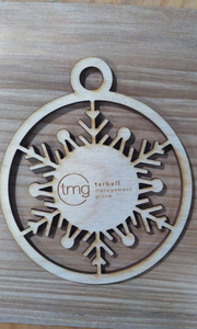 Custom Laser Engraved Ornament