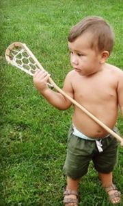 Mini wooden lacrosse stick