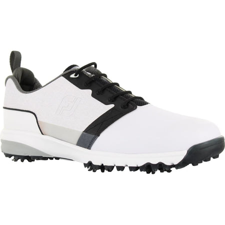 FootJoy Mens Contour Fit Golf Shoes White/Black (Blem #54091) - Golf Country Online