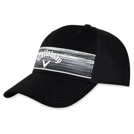 Callaway Golf 2020 Stripe Mesh Adjustable Hat - BLACK - Golf Country Online