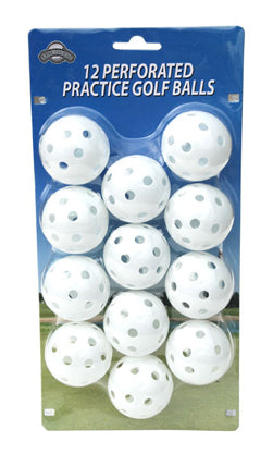 OnCourse Practice Plastic Perforated Golf Balls - 12 Pack - White - Golf Country Online