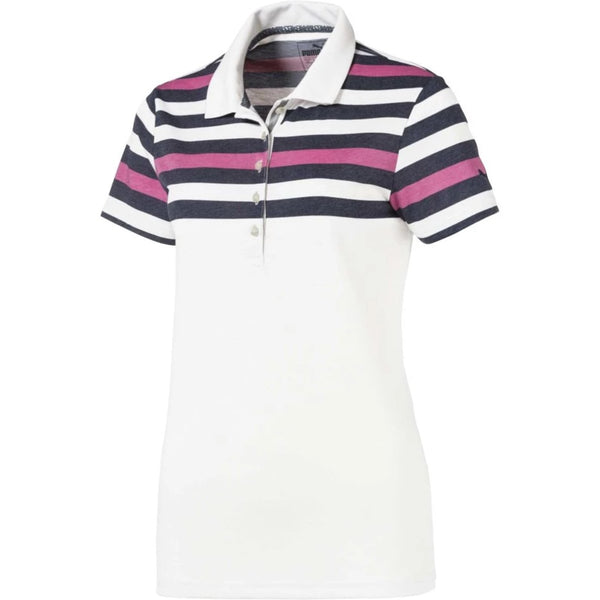 PUMA Golf Women's Road Map Polo SHIRT TOP  Peacoat - Golf Country Online