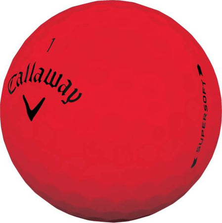 Callaway Golf Supersoft Matte Red Individual Golf Ball