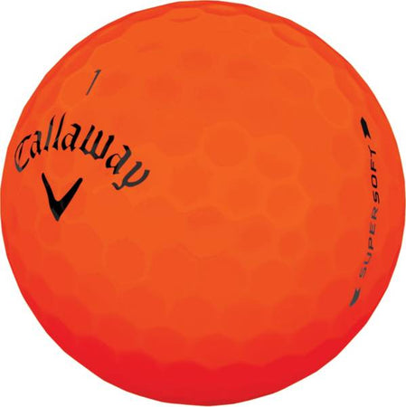 Callaway Golf Supersoft Matte Orange Individual Golf Ball