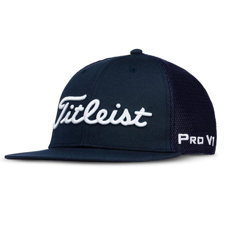 Titleist Golf - Tour Flat Bill Mesh Hat (Adj) - Navy - Golf Country Online