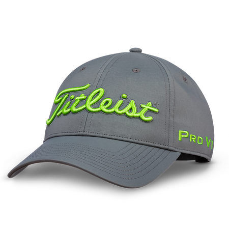 Titleist Golf - Tour Performance Cap Charcoal/Citrus - Golf Country Online
