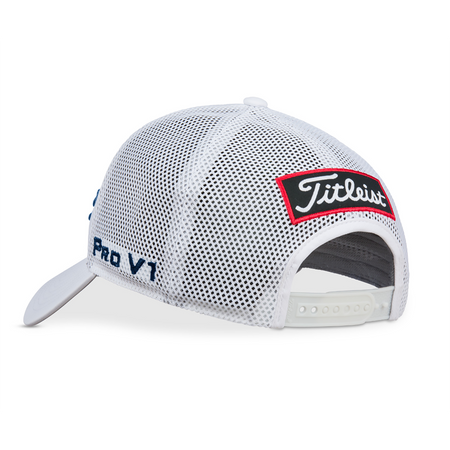 Titleist Tour Performance Mesh Golf Hat - WHITE/NAVY - Golf Country Online