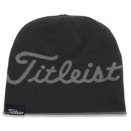 Titleist Lifestyle Reversible Knit Moisture Wicking Beanie Hat Charcoal/Grey Stripes - Golf Country Online