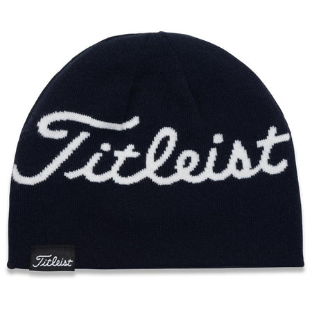 Titleist Lifestyle Reversible Knit Moisture Wicking Beanie Hat Navy/White Stripe - Golf Country Online