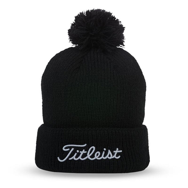 Titleist Pom Pom Winter Hat - BLACK - Golf Country Online