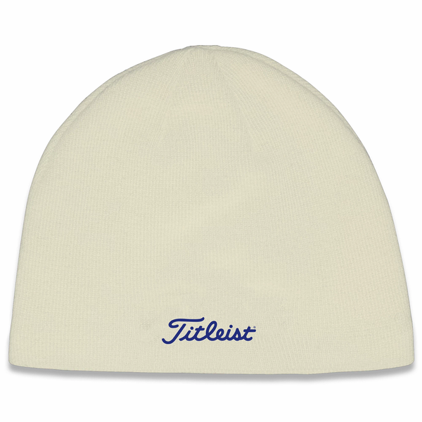 Titleist Nantucket Golf Beanie - Bone/Navy